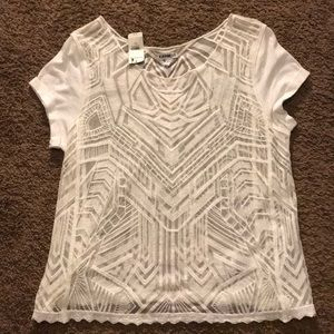 NWT Express sheer tee size S